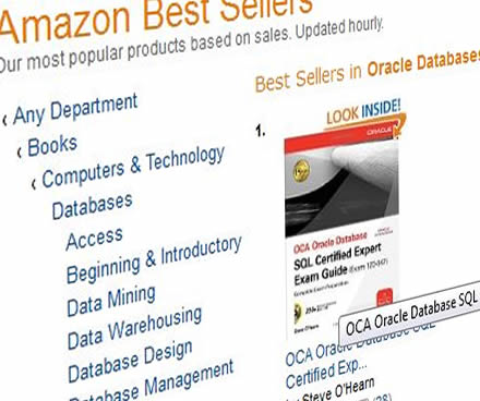 SQL Expert book at number one on Amazon's Orace booklist